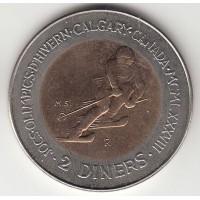 2 динера, Андорра, 1985