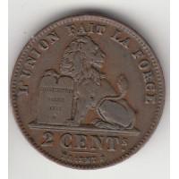 2 сантима, Бельгия, 1902