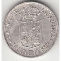 40 сентаво, Испания, 1866