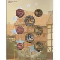 набор евромонет, проба, 2002, Дания