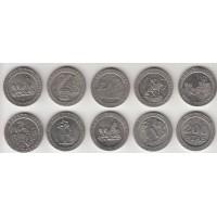 набор монет 200 песет, Испания, 1990-1998