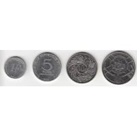 набор монет Бурунди (1,5,10, 50 франков) 2011