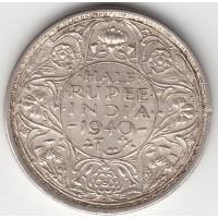 1/2 рупии, Британская Индия, 1940