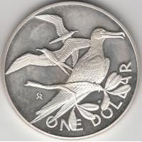 1 доллар Британские Виргинские острова, 1973
