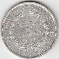 1 пиастр, Индокитай, 1901