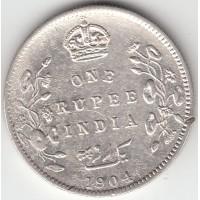 1 рупия, Британская Индия, 1904