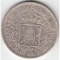 1 рупия, Португальская Индия, 1882