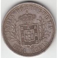 1 рупия, Португальская Индия, 1904