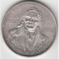 100 песо, Мексика, 1978