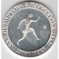 2000 песет, Олимпиада, бегун, Испания, 1992