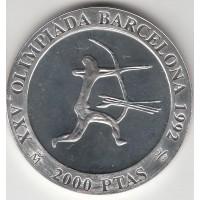2000 песет, Олимпиада, стрелок, Испания, 1992