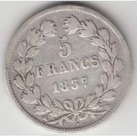 5 франков, Франция, 1837