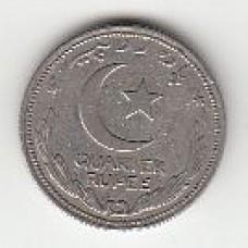 1/4 рупии, Пакистан, 1951