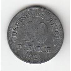 10 пфеннигов, Германия, 1921
