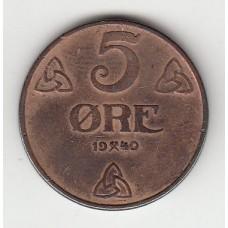 5 эре, Норвегия, 1940