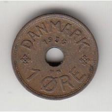1 эре, Дания, 1936