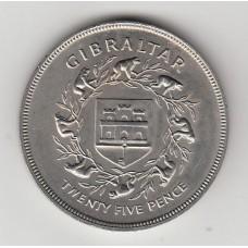 25 пенсов, Гибралтар, 1977