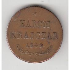 3 крейцера, Венгрия (восстание), 1849