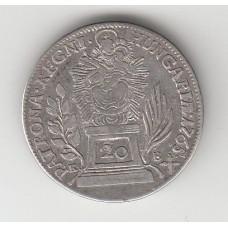 20 крейцеров, Венгрия, 1765