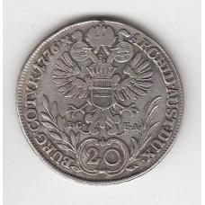 20 крейцеров, Австрия, 1776