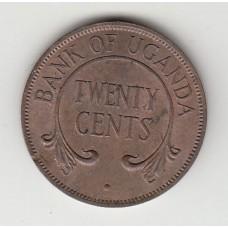 20 центов, Уганда, 1966