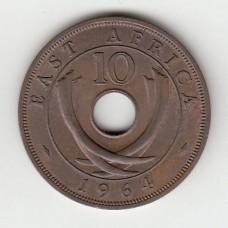10 центов, Восточная Африка, 1964