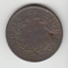 1 сентаво, Чили, 1853