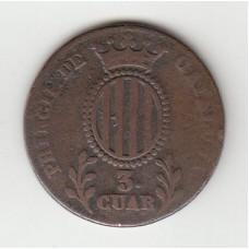3 кварты, Каталония, 1837
