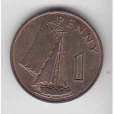 1 пенни, Гамбия, 1966