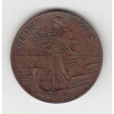 5 чентезимо, Италия, 1918