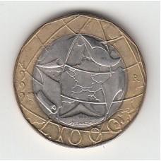 1000 лир, Италия, 1999