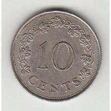 10 центов, Мальта, 1972