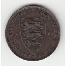 1/24 шиллинга, Джерси, 1894