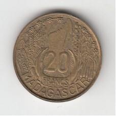 20 франков, Мадагаскар, 1953