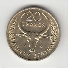 20 франков, Мадагаскар, 1970
