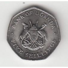 5 шиллингов, Уганда, 1987