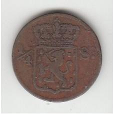 1/4 стювера, Нидерландская Индия, 1826
