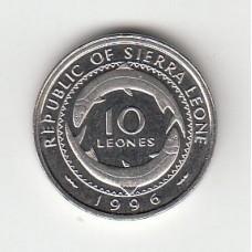10 леоне, Сьерра-Леоне, 1996