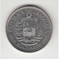 2 боливара, Венесуэла, 1989