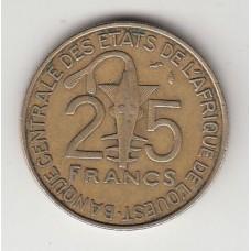 25 франков, КФА, 1981