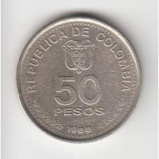 50 песо, Колумбия, 1988