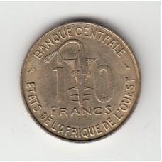 10 франков, КФА, 1969