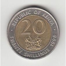 20 шиллингов, Кения, 1998