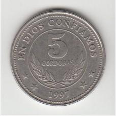 5 кордоб, Никарагуа, 1997