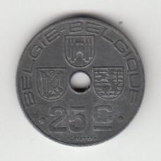 25 сантимов, Бельгия, 1944