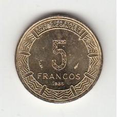 5 франков, Экваториальная Гвинея, 1985