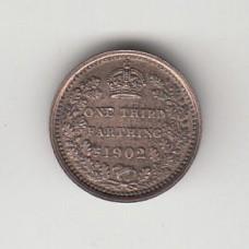 1/3 фартинга, Великобритания (для Мальты), 1902