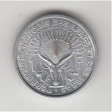 1 франк, Территория Афаров и Исса, 1971