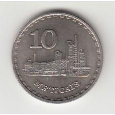 10 метикалей, Мозамбик, 1980