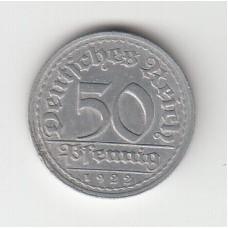 50 пфеннигов, Германия, 1922, J